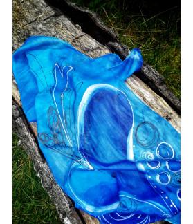 hedvábný šátek ŽIJI NAPLNĚNÝ ŽIVOT